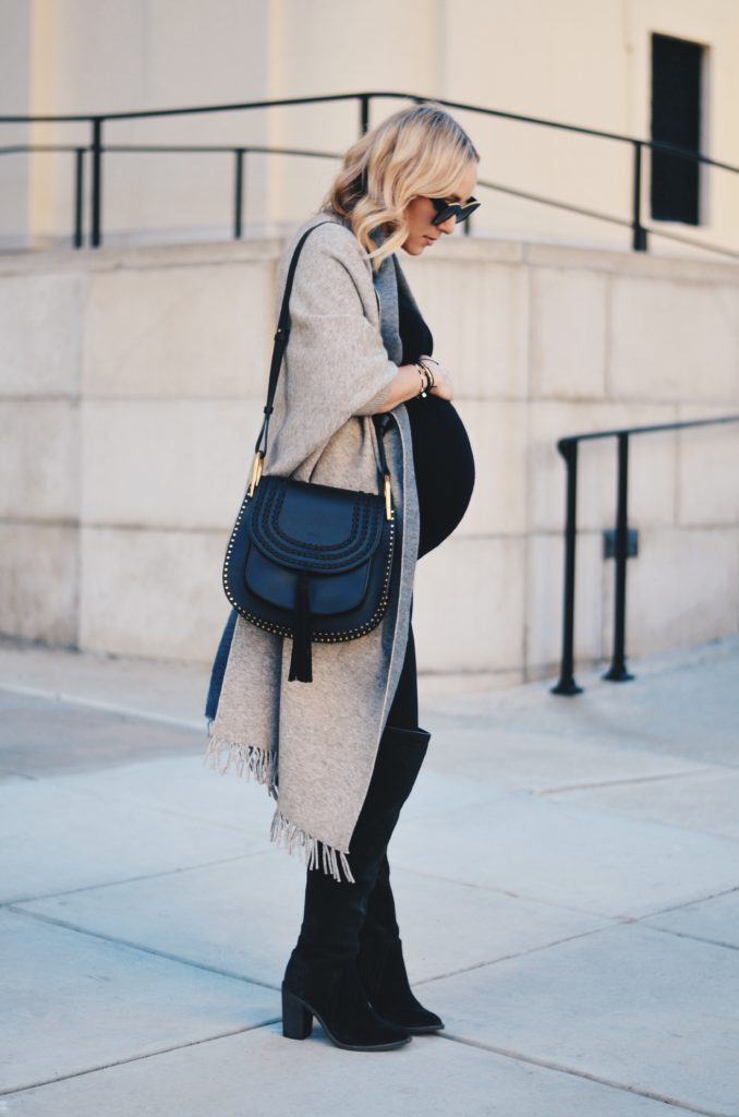 Fall Pregnancy Style OTK boots