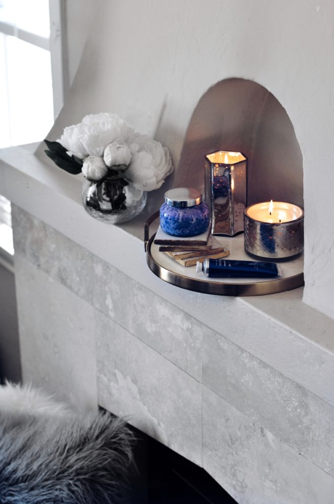Home Decor with Candles on mantel