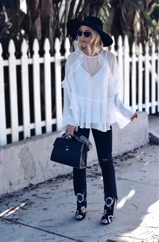 Cute Fall Outfit Flowy Top