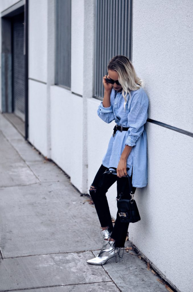How to style a boyfriend shirt