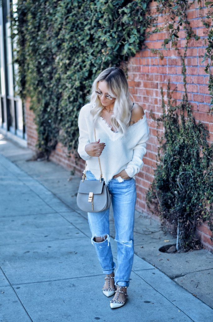 Casual outfit jeans and sweater